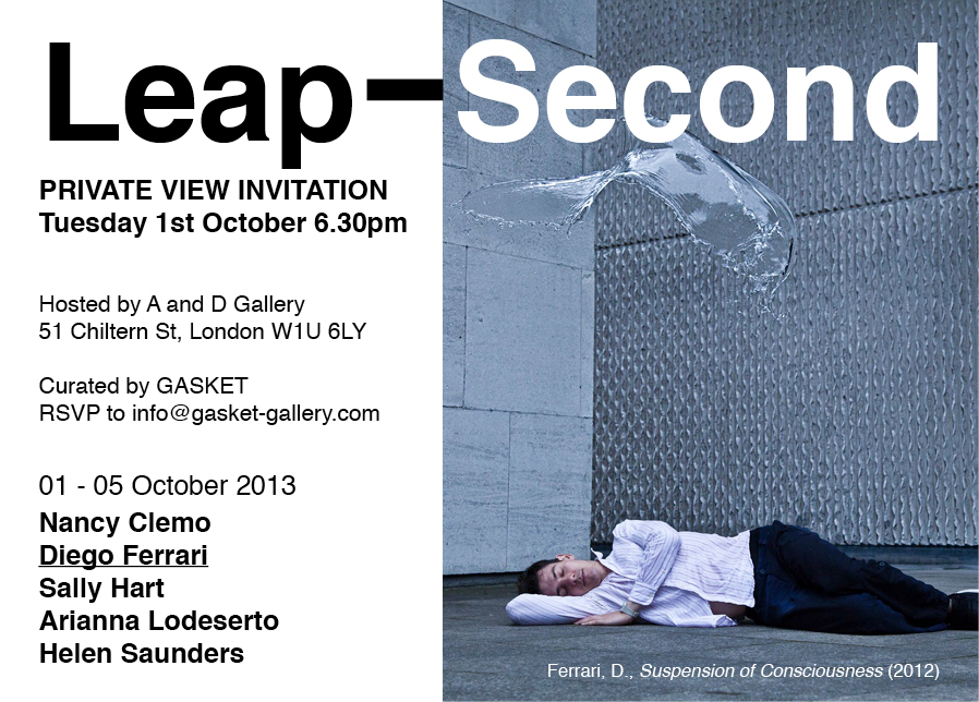 Leap second private view invitation diego ferrari leap second private view invitation stopboris Gallery